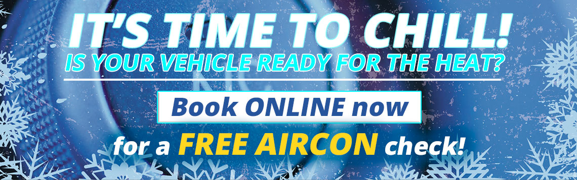 Book ONLINE now for a FREE AIRCON check!